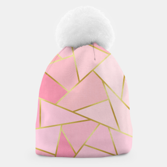 Pink and gold triangular pattern Beanie thumbnail image