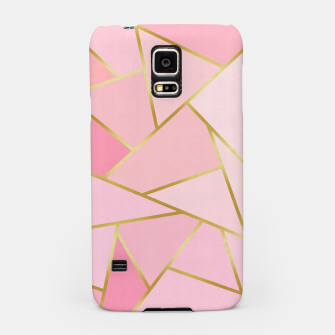 Pink and gold triangular pattern Samsung Case thumbnail image