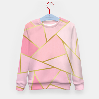 Pink and gold triangular pattern Kid's sweater thumbnail image