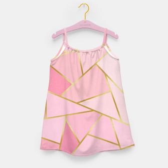 Pink and gold triangular pattern Girl's dress thumbnail image