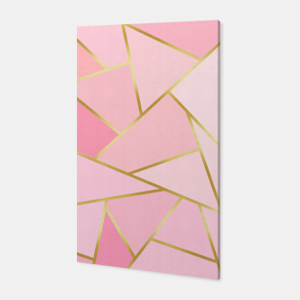 Pink and gold triangular pattern Canvas thumbnail image