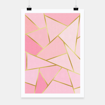 Pink and gold triangular pattern Poster thumbnail image