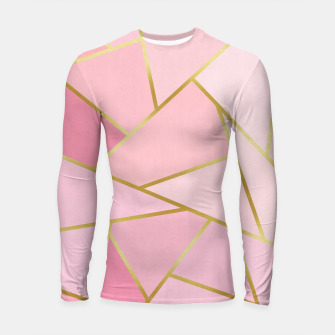 Pink and gold triangular pattern Longsleeve rashguard  thumbnail image