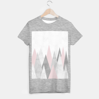 Thumbnail image of Gray and pink mountains T-shirt regular, Live Heroes