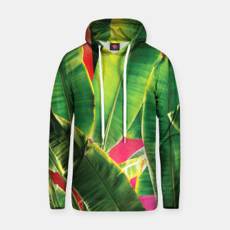 Thumbnail image of Banana leaf with pink color #society6 Cotton hoodie, Live Heroes