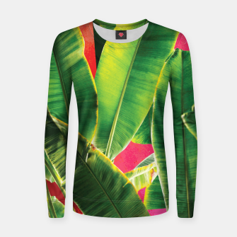 Thumbnail image of Banana leaf with pink color #society6 Woman cotton sweater, Live Heroes