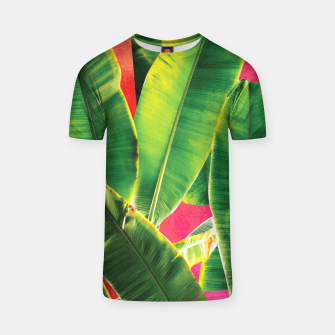 Thumbnail image of Banana leaf with pink color #society6 T-shirt, Live Heroes