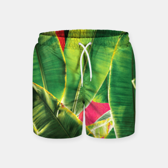 Thumbnail image of Banana leaf with pink color #society6 Swim Shorts, Live Heroes