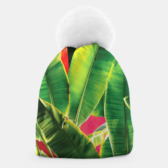 Thumbnail image of Banana leaf with pink color #society6 Beanie, Live Heroes