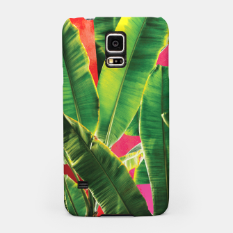 Thumbnail image of Banana leaf with pink color #society6 Samsung Case, Live Heroes
