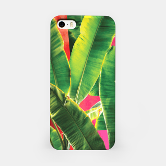 Thumbnail image of Banana leaf with pink color #society6 iPhone Case, Live Heroes