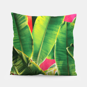 Thumbnail image of Banana leaf with pink color #society6 Pillow, Live Heroes