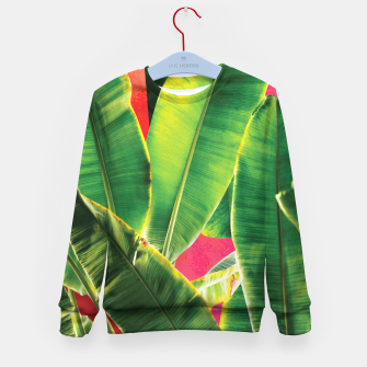Thumbnail image of Banana leaf with pink color #society6 Kid's sweater, Live Heroes