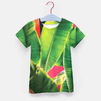 Thumbnail image of Banana leaf with pink color #society6 Kid's t-shirt, Live Heroes