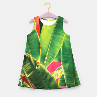 Thumbnail image of Banana leaf with pink color #society6 Girl's summer dress, Live Heroes
