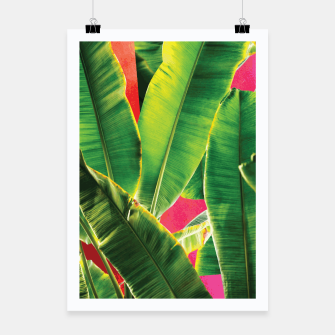 Thumbnail image of Banana leaf with pink color #society6 Poster, Live Heroes