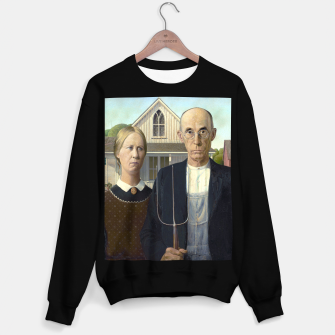 Thumbnail image of Grant DeVolson Wood American Gothic Sudadera regular, Live Heroes