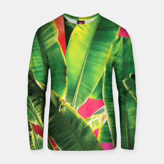 Thumbnail image of Banana leaf with pink color #society6 Cotton sweater, Live Heroes
