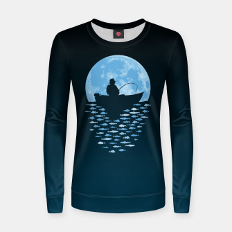 Thumbnail image of Hooked by Moonlight Woman cotton sweater, Live Heroes