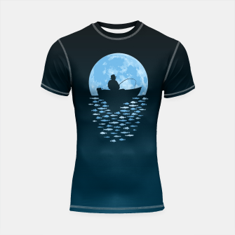 Thumbnail image of Hooked by Moonlight Shortsleeve rashguard, Live Heroes