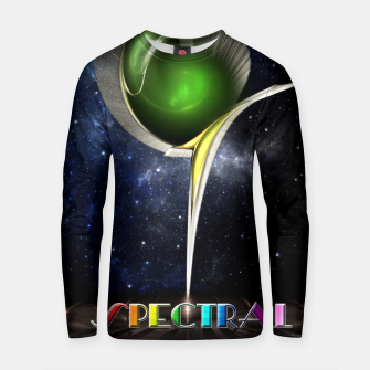 Thumbnail image of Spectral Fractal Art Sculpture Cotton sweater, Live Heroes