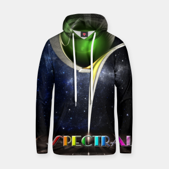 Thumbnail image of Spectral Fractal Art Sculpture Cotton hoodie, Live Heroes