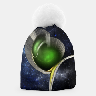 Thumbnail image of Spectral Fractal Art Sculpture Beanie, Live Heroes