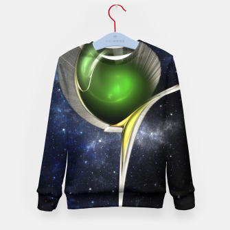 Thumbnail image of Spectral Fractal Art Sculpture Kid's sweater, Live Heroes