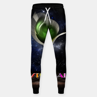 Thumbnail image of Spectral ZMO Fractal Art Composition Cotton sweatpants, Live Heroes