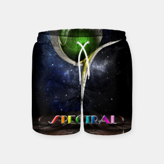 Thumbnail image of Spectral ZMO Fractal Art Composition Swim Shorts, Live Heroes