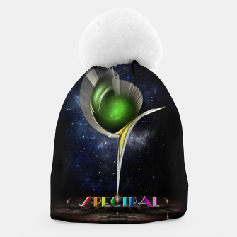 Thumbnail image of Spectral ZMO Fractal Art Composition Beanie, Live Heroes