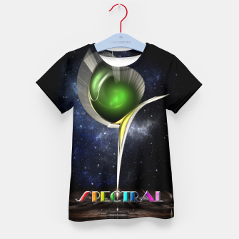 Thumbnail image of Spectral ZMO Fractal Art Composition Kid's t-shirt, Live Heroes