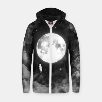 Thumbnail image of Lunar Confrontation Cotton zip up hoodie, Live Heroes