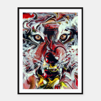 Thumbnail image of Tiger Framed poster, Live Heroes