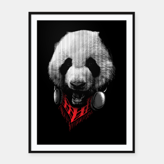 Miniatur Panda Stylish Framed poster, Live Heroes