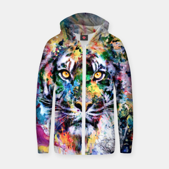 Miniature de image de Tiger II Cotton zip up hoodie, Live Heroes