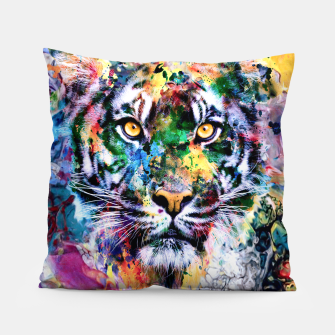 Thumbnail image of Tiger II Pillow, Live Heroes