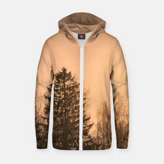 Miniatur Orange afternoon Cotton zip up hoodie, Live Heroes