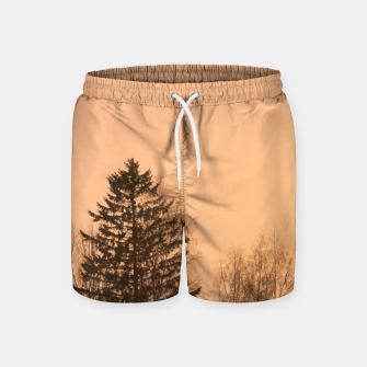 Miniatur Orange afternoon Swim Shorts, Live Heroes
