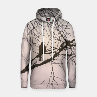Miniatur Bird and branches Cotton hoodie, Live Heroes