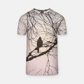 Miniatur Bird and branches T-shirt, Live Heroes