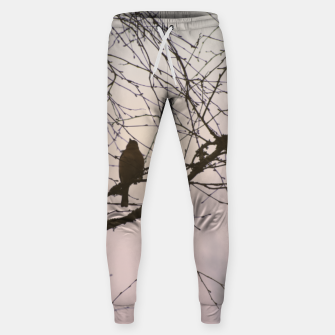 Miniatur Bird and branches Cotton sweatpants, Live Heroes