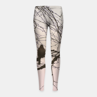 Miniatur Bird and branches Girl's leggings, Live Heroes