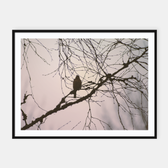 Miniatur Bird and branches Framed poster, Live Heroes