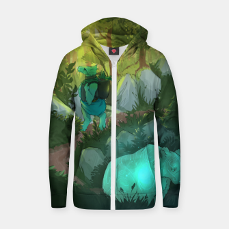 Thumbnail image of Path Cotton zip up hoodie, Live Heroes