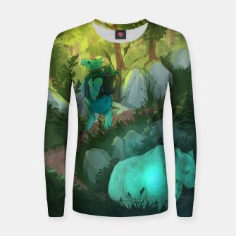 Thumbnail image of Path Woman cotton sweater, Live Heroes
