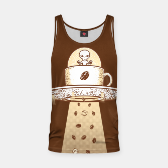 Thumbnail image of Alien Coffee Invasion Tank Top, Live Heroes