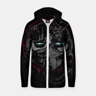 Miniatur Death Pilot Cotton zip up hoodie, Live Heroes