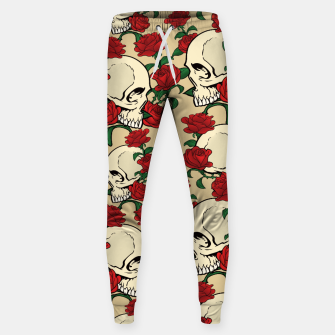 Thumbnail image of Skulls & Roses Cotton sweatpants, Live Heroes