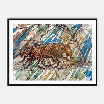 Thumbnail image of Rainy Day Framed poster, Live Heroes
